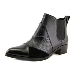 Coach Suffolk Patchwork Pointed Toe Leather Bootie